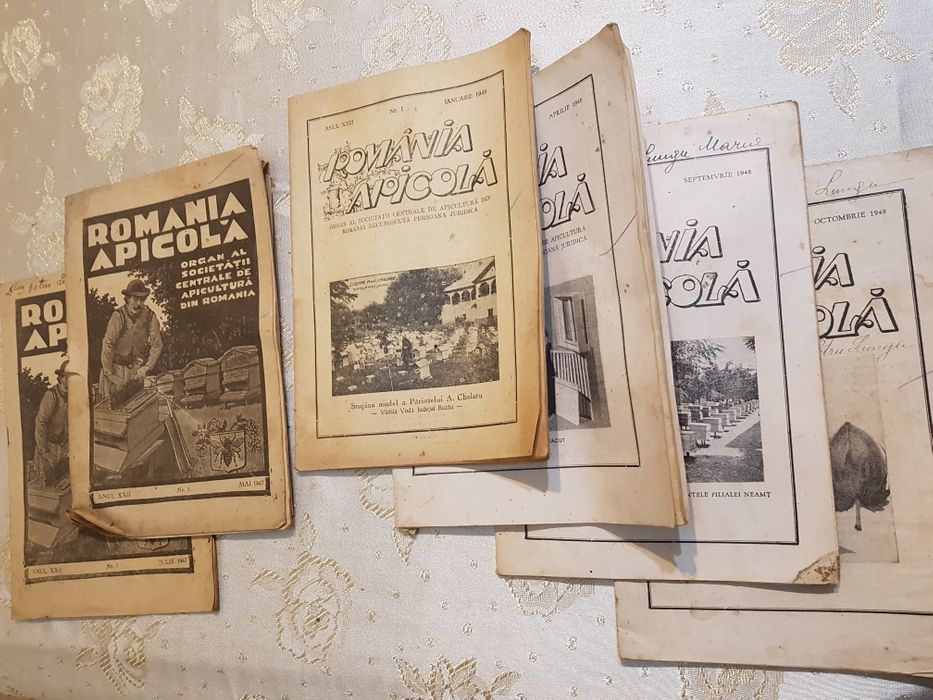 Reviste vechi apicultură ,,România Apicolă 1947-1948