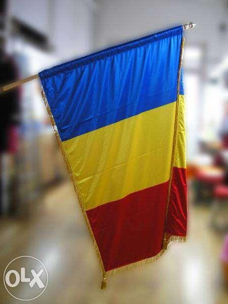Drapel Romania din matase