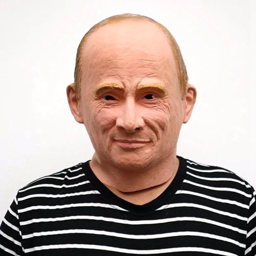 Masca latex presedinte rus Putin petrecere Halloween bal mascat +CADOU