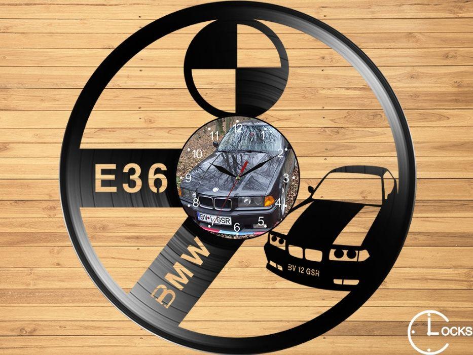 Ceas de perete din vinil BMW E36 Coupe m1 | stil nou reto design bun