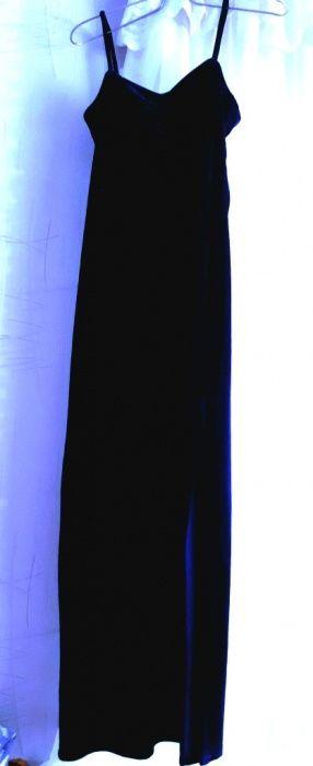 Платье бархатное длинное