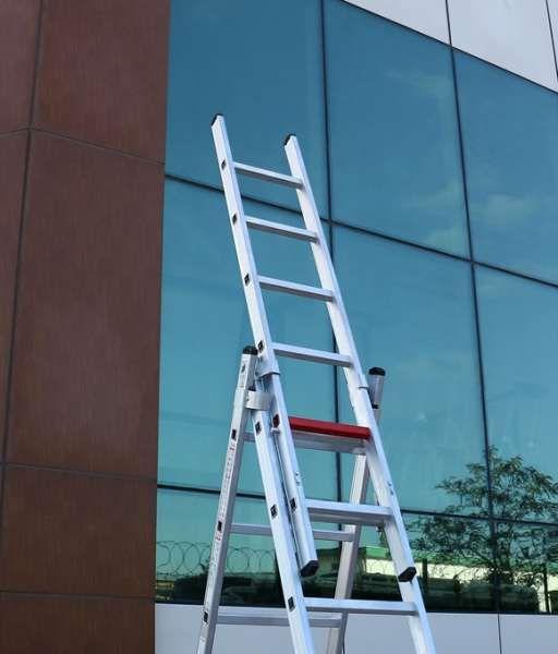 Качествена Стълба от 3 части чисто нова алуминиева мултифункционалн