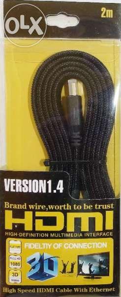 Плосък HDMI кабел - 14,93 Gbit/s, 4К армирана оплетка