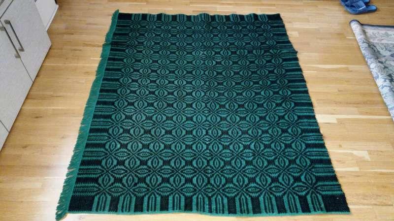 Автентично, ръчно тъкано шалте с ресни, памук и вълна