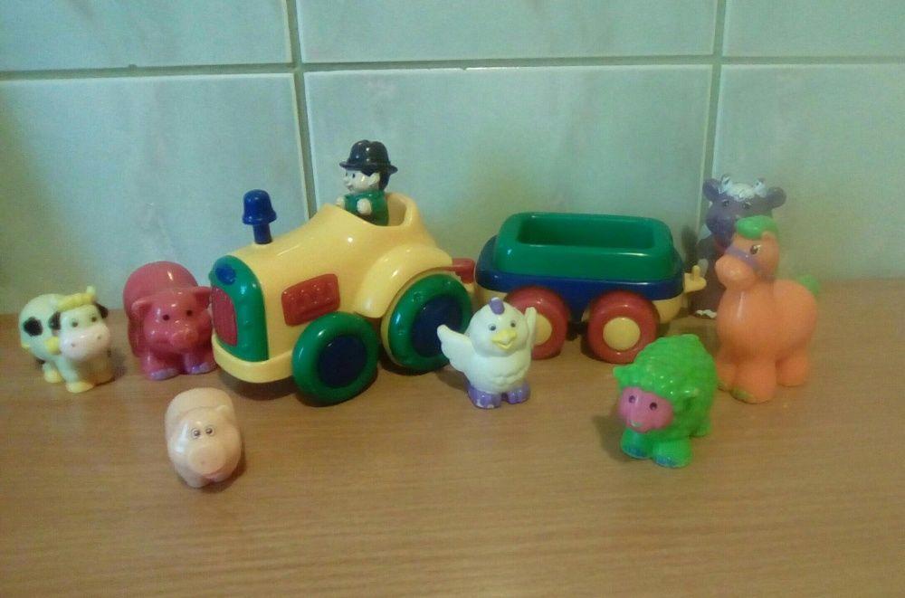 Tractor Symba Toys cu Remorca si Animale