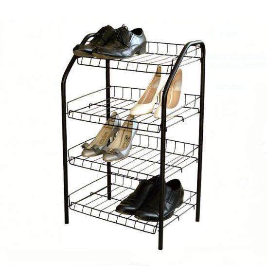 Этажерка - полка для обуви (обувница) 4 полки металл, Nika (Ника) ЭТ2