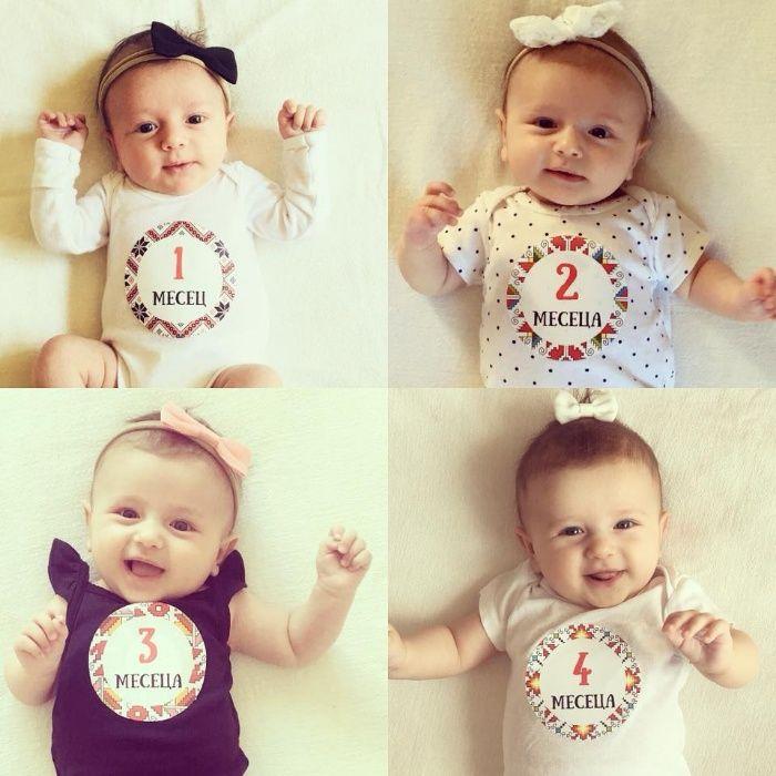 Цветни стикери за бебета по един за всеки месец