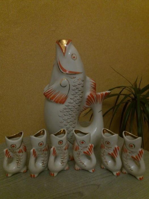 Фарфоровый набор. Рыбки