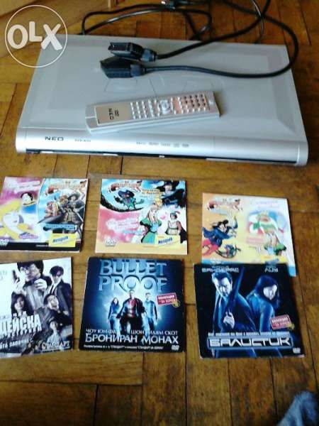 намалявам 35 лева DVD плеър нео с подарък филми на диск