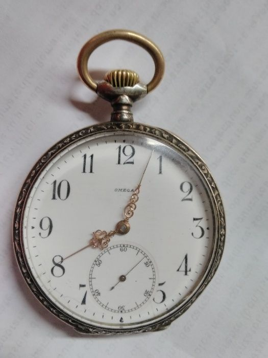 Ceas de buzunar Omega Argint Placat cu AUR