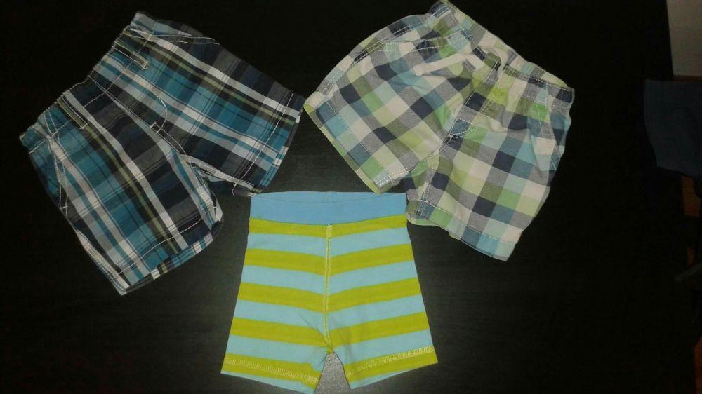 Pantaloni scurti h&m 68-74, salopeta, camasa, tricouri