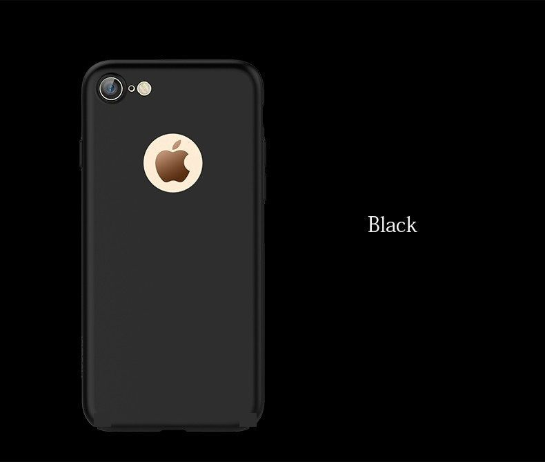 Husa Iphone 7 8 7+ 8+ Ultra Slim Neagra Silicon Mat