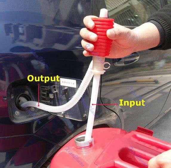 Помпа за източване и преливане на течности(гориво)