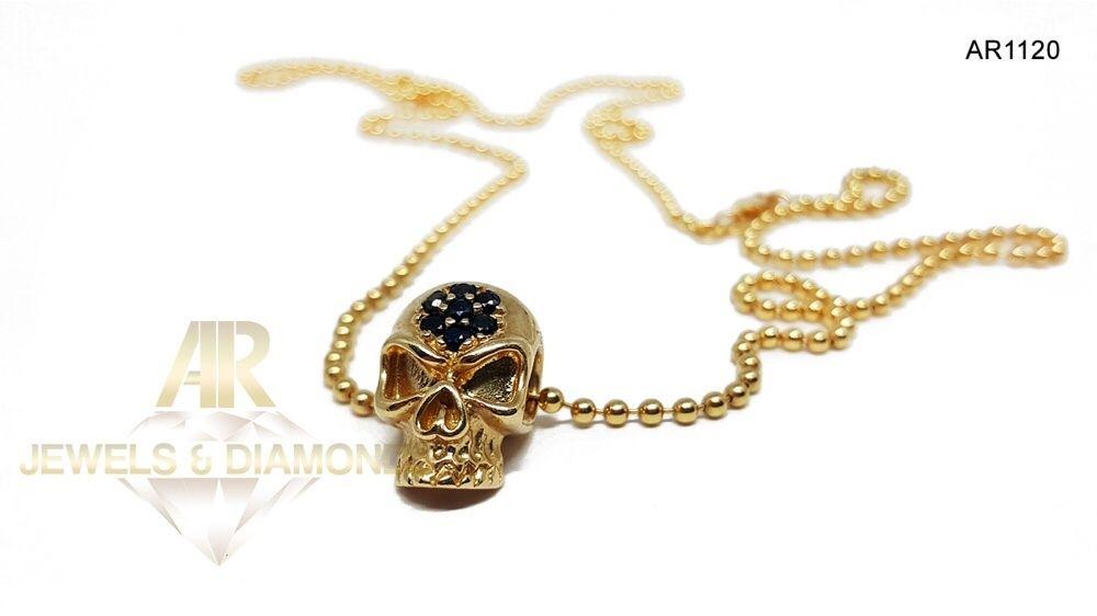 Colier Aur 14 K ARJEWELS Skull Collection (AR1120)