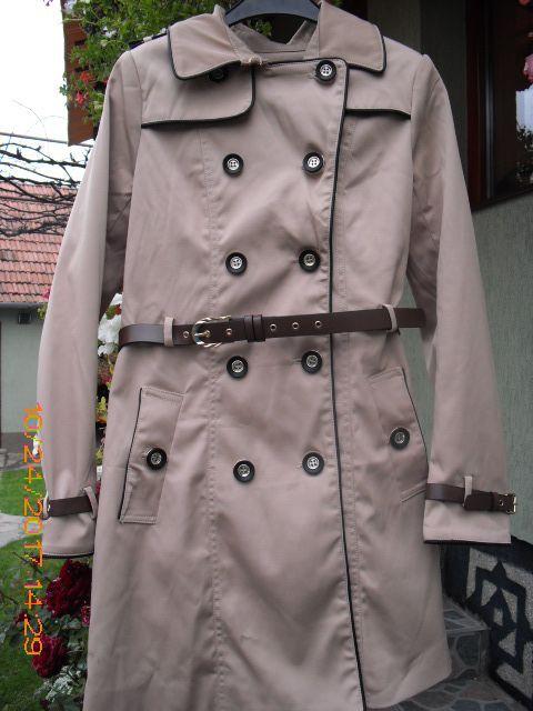 **NOUĂ! Jachetă de damă, modernă, bej cu maro