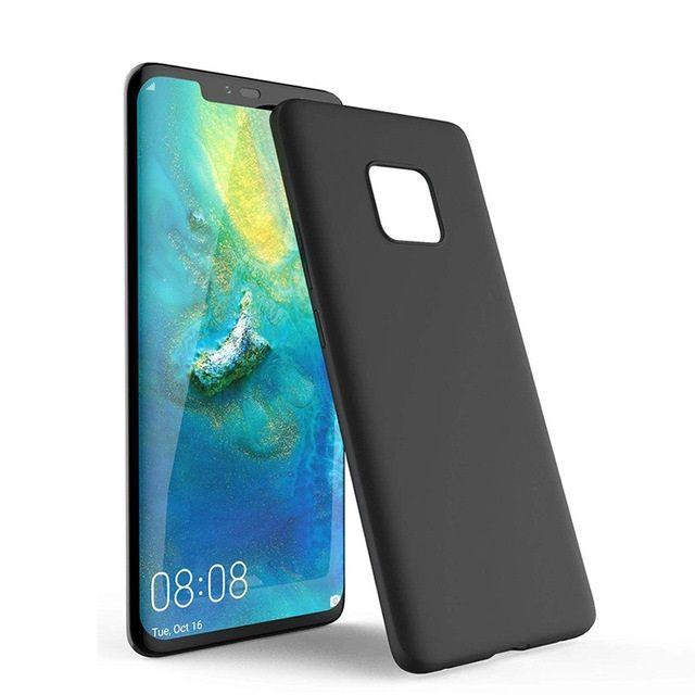 Huawei Mate 20 Lite 20 Pro - Husa Utra Slim Din Silicon Neagra, Clara