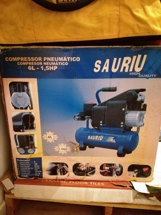 Compressor Pneumático Ar Sauriu 60L 1,5Hp