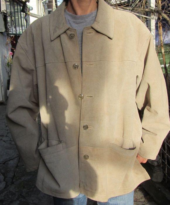Haina Barbati Piele 100% Geaca Palton marime XL Made in Italy