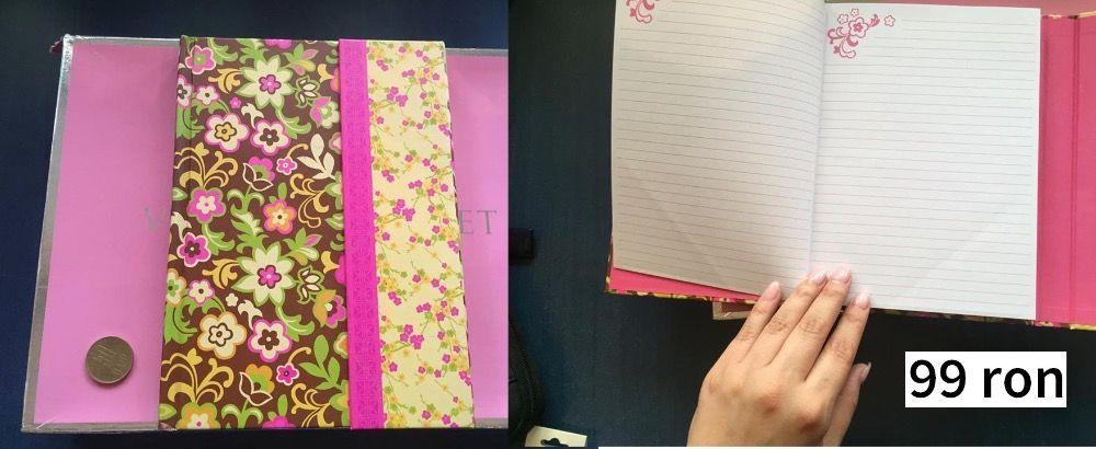 Agenda Jurnal Caiet Notebook Flori - import SUA - adolescenti cadou