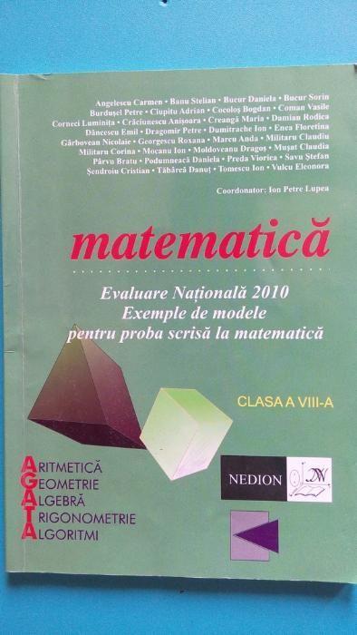 Matematica, Evaluare nationala 2009 - 2010, Clasa a VIII-a