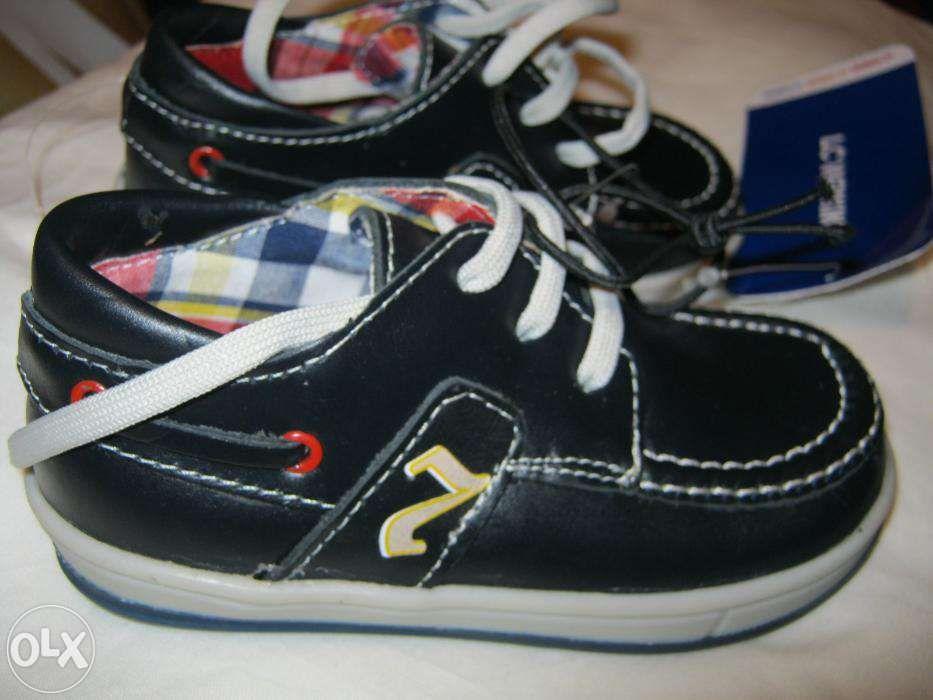 Pantofi copii piele LC Waikiki, albastri, noi, marime 25-26