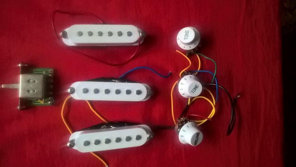 Doze chitara + potentiometre + comutator