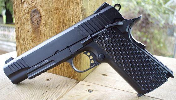 FULL METAL!! Pistol airsoft *Ultra PUTERNIC* Colt Cu Recul TOKYO MARUI