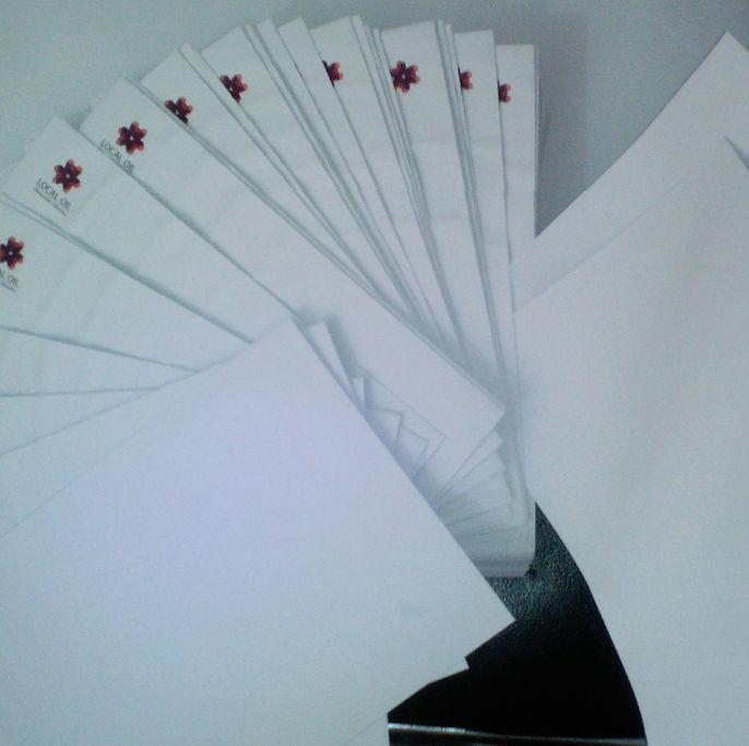 papel timbrado envelope timbrado, cartão de visita