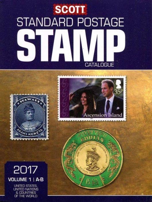 СКОТ 2017 Каталог стандатни пощенски марки(пълен комплект) + 9 бонус