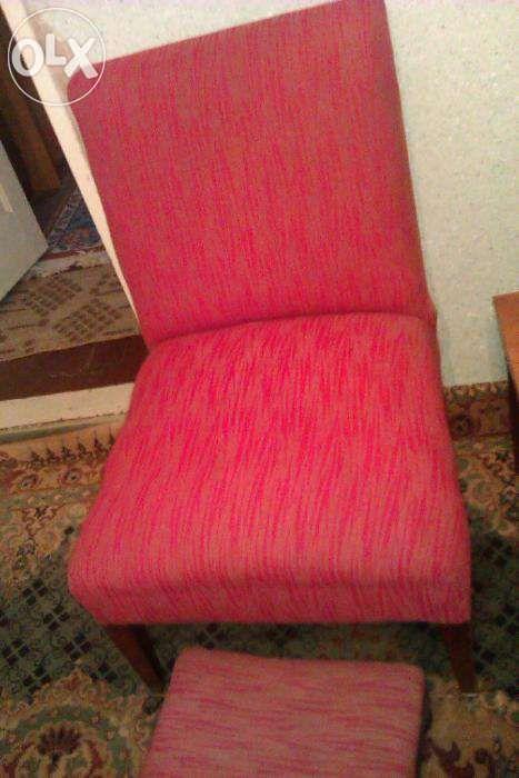 fotoliu vintage cu scaunel pentru picioare