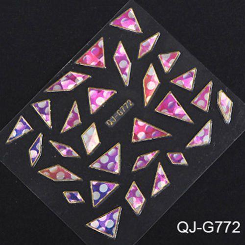 NOU*** Abtibilduri (stickere) unghii 3D cu forme neregulate*** Bucuresti - imagine 3