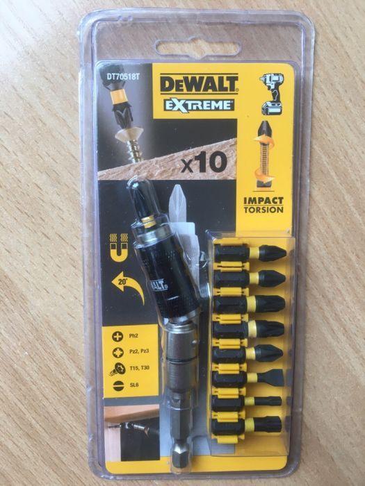 Комплект накрайници Dewalt DT70518Т с магнитен удължител , 10 части