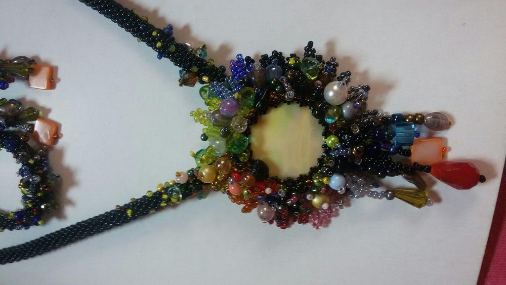 Set colier, brățară si cercei handmade
