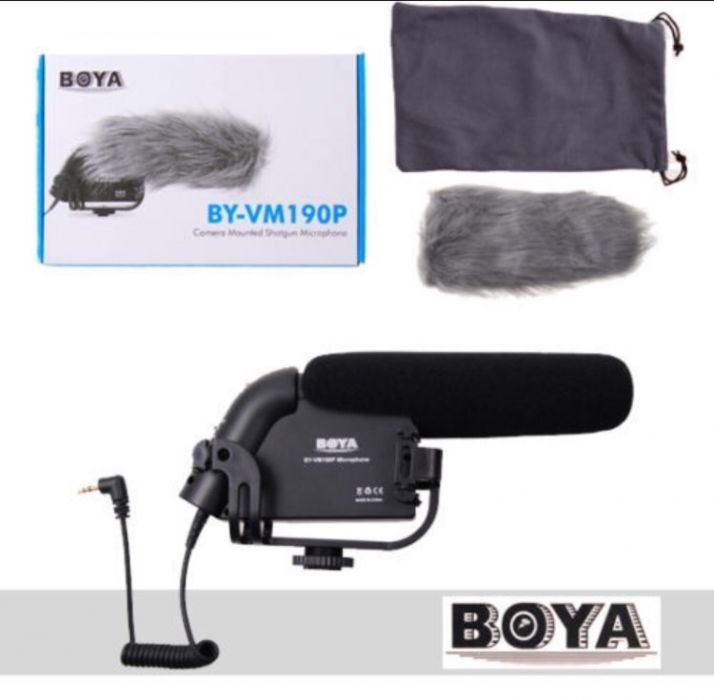 BOYA BY-VM190P Microfon Shotgun Pro Stereo Video DSLR Camera Camcorder
