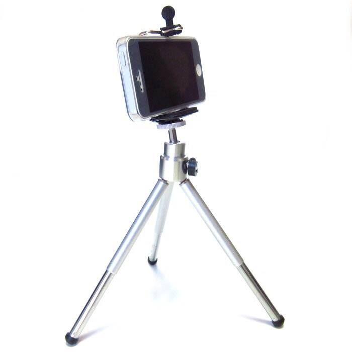 Метален телескопичен статив за телефон, камера фотоапарат - трипод