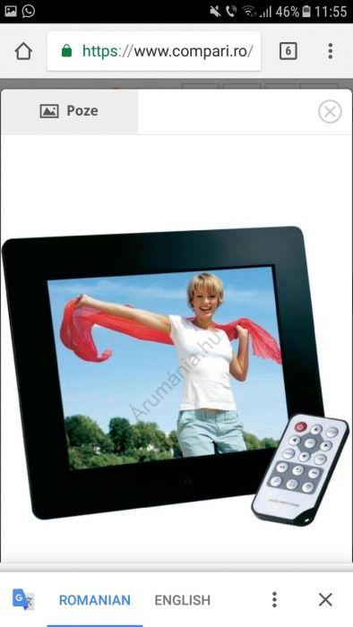 Rama foto digitala cu telecomanda