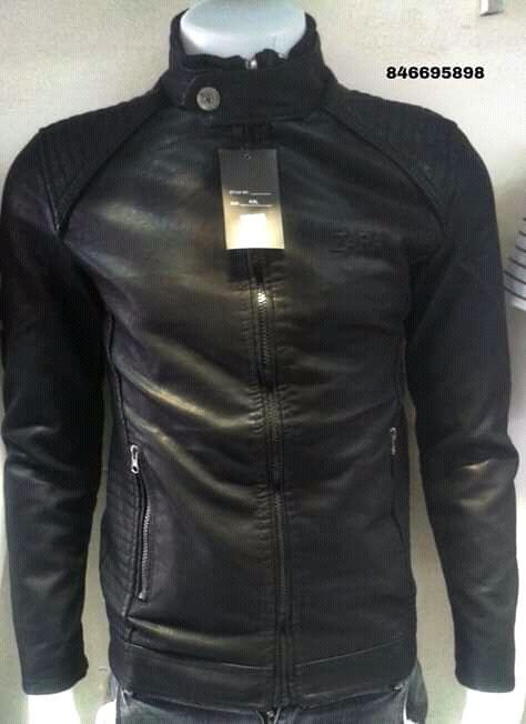 Casacos de leather marca zara