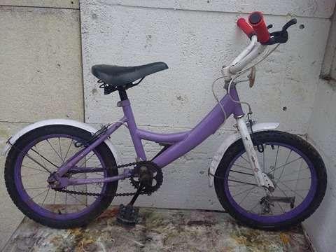 Bicicleta vintage de copii/fetite,MOV,roti ajutatoare