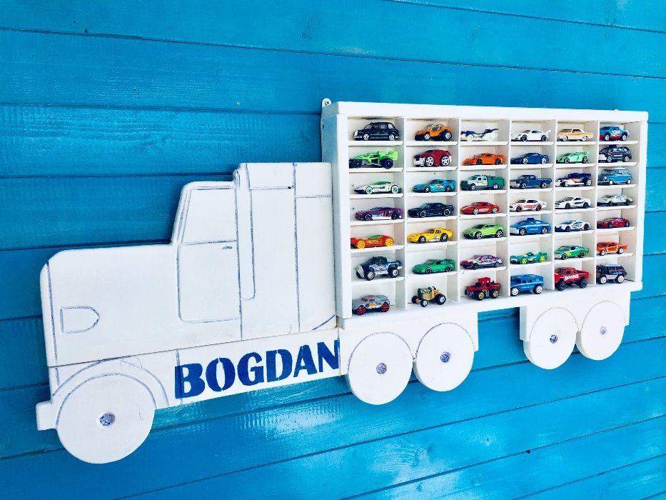 Raft-camion din lemn pentru masinute Craiova - imagine 4