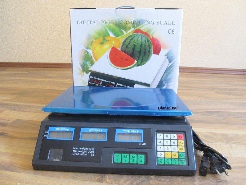 Cantar Piata, Magazin Electronic Digital AFISAJ DUBLU 40 kg-PRODUS NOU
