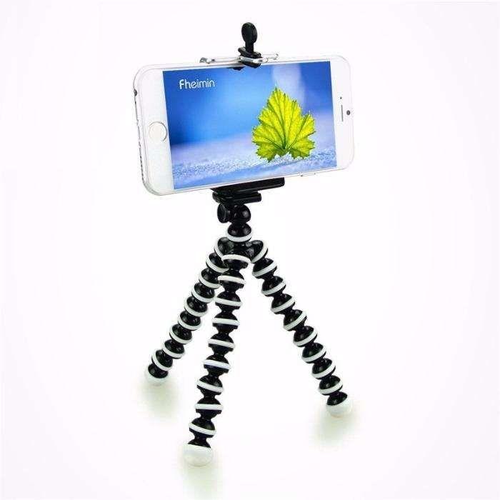 Trepied FLEXIBIL cu suport pentru TELEFON aparat foto Samsung iPhone