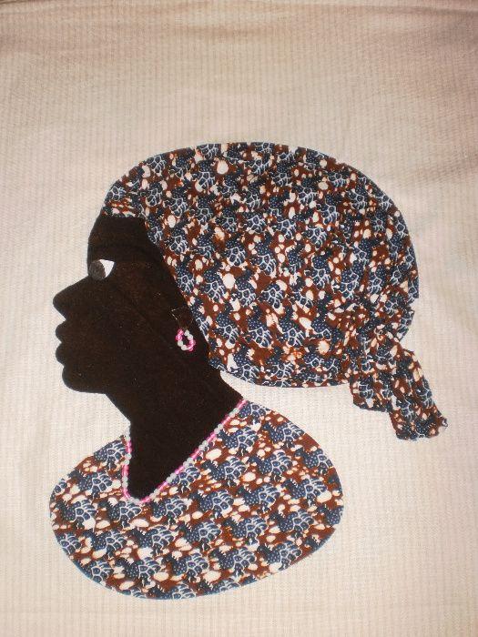 Африканка-картина от текстил върху текстил-варианти гр. София - image 3