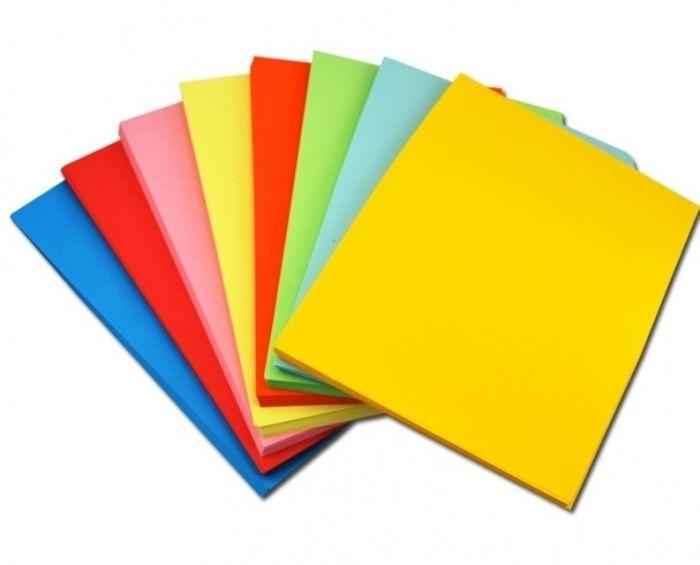 Крафт бумага разные цвета (газетная бумага)