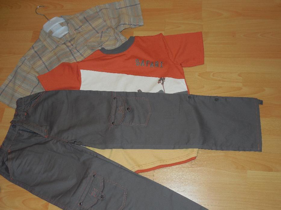 SET Safari copil 12-13 ani (3 piese - cămașă+tricou+pantaloni)