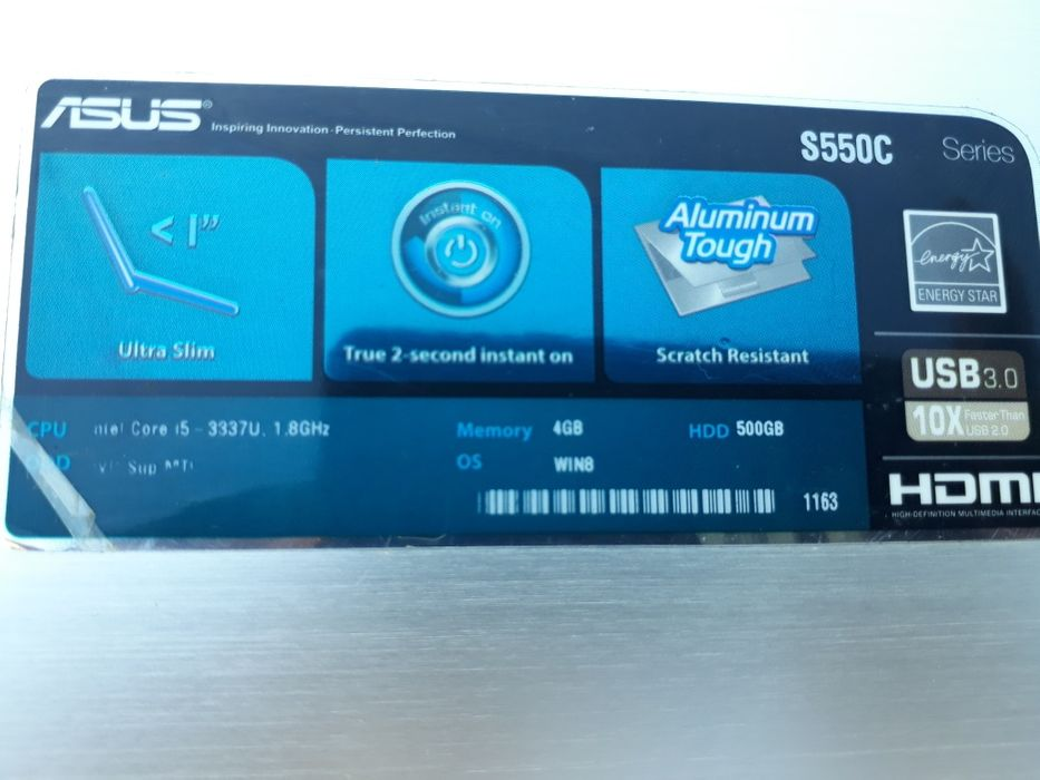 Asus s550c core i5 500hd 4ram 5h carga touch scream estado super clean Magoanine - imagem 3