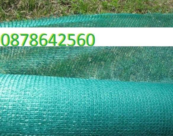 Зелена Мрежа за сянка градушка предпазна на 35% и 50%