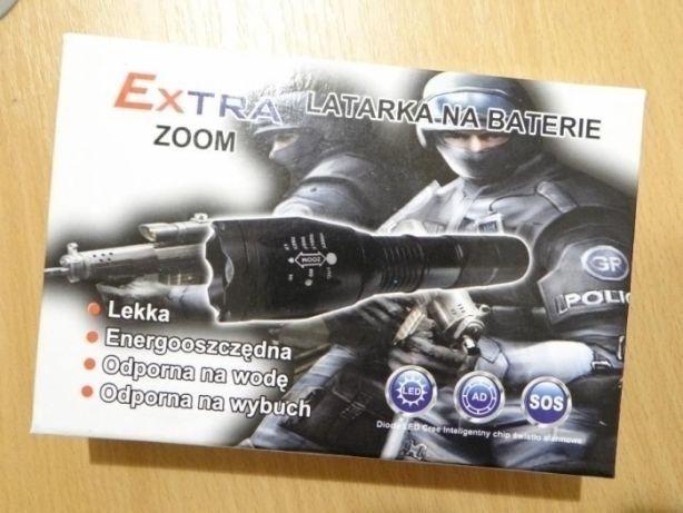 Lanterna Power Light Extra Zoom 2800W Led CREE T6 NOUA!