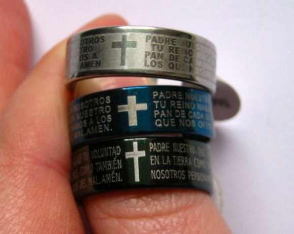 Inele de colectie, gravat cu TATAL NOSTRU in spaniola - Biblie