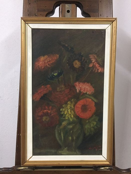 Set 2 picturi cu flori pictor Arjoca