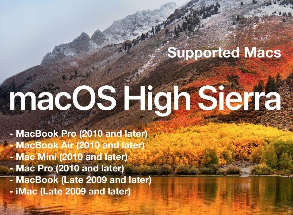 Sistema mac High Sierra 10.13
